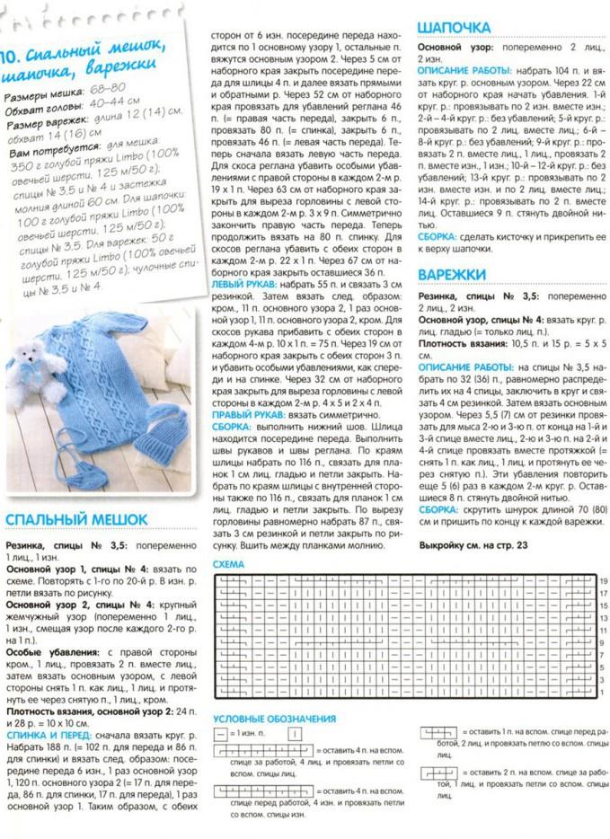 Описание и схемы вязания для грудничков 425
